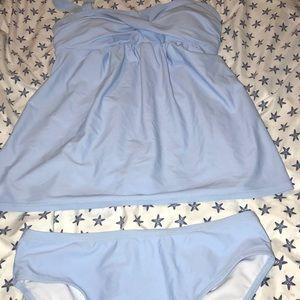 BNWOT Sky blue two piece women's swimsuit